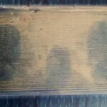 Fingermarks developed on wood